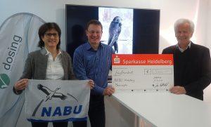Spendenübergabe an den NABU Heidelberg