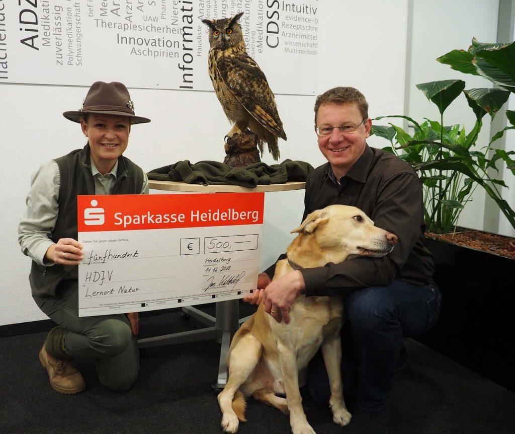 Spendenübergabe an die Heidelberger Jägervereinigung